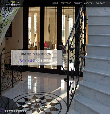 A website for an Interior Designer in London, by New Forest Web Design